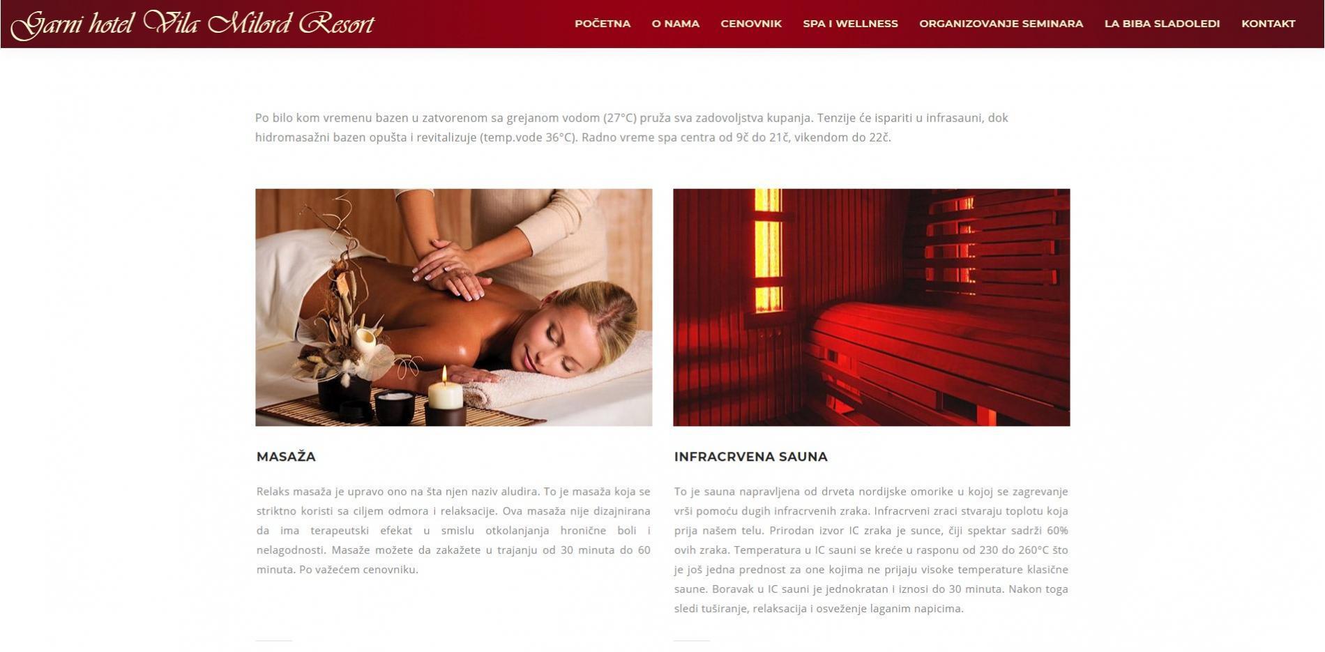 Garni hotel Vila Milord Resort