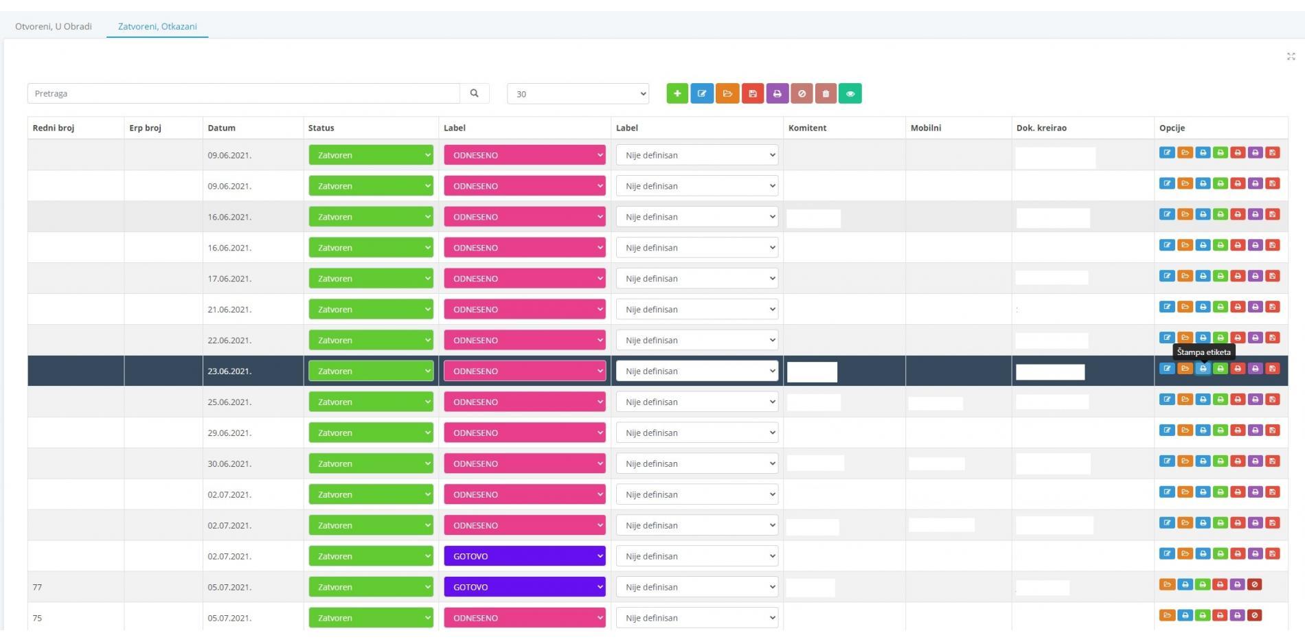 Portal za naručivanje B2B